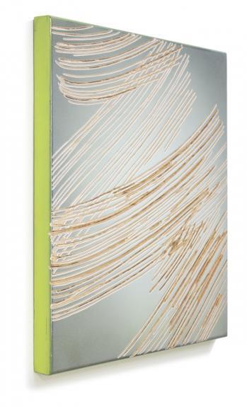 Wolfgang Flad, Relief, artwork, wallsculpture, wood, Holz, Kunst, broom, Pinsel